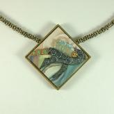 Jan Geisen handmade polymer clay jewelry - pendant necklace
