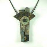 Jan Geisen handmade polymer clay jewelry - necklace