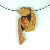 Jan Geisen handmade polymer clay jewelry - mica shift