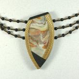 Jan Geisen handmade polymer clay jewelry - pendant multi strand necklace