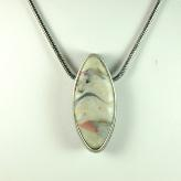 Jan Geisen handmade polymer clay jewelry - faux stone pendant necklace N9049