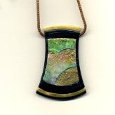Jan Geisen handmade polymer clay jewelry - pendant necklace N8020