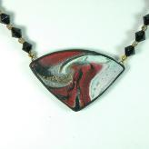 Jan Geisen handmade polymer clay jewelry - pendant necklace N7053