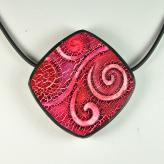 N10-15 crackle pattern on polymer clay