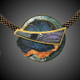 Jan Geisen handmade polymer clay pendant necklace N11-59