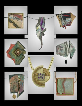Jan Geisen handmade polymer clay jewelry - brooches, earrings, necklaces, pendants, bracelets, rings