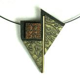 Jan Geisen handmade polymer clay jewelry - asian inspired pendant choker necklace