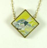 Jan Geisen handmade polymer clay jewelry - pendant necklace N9016