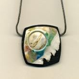 Jan Geisen handmade polymer clay jewelry - pendant necklace N8018