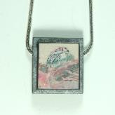 Jan Geisen handmade polymer clay jewelry - pendant necklace N8024