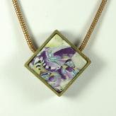 Jan Geisen handmade polymer clay jewelry - pendant necklace N8074