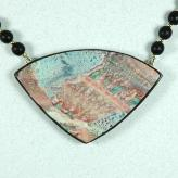 Jan Geisen handmade polymer clay jewelry - pendant necklace N8011