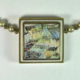Jan Geisen handmade polymer clay jewelry - pendant necklace N10-55