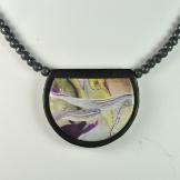 Jan Geisen polymer clay jewelry - pendant necklace N8055