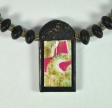 Jan Geisen handmade polymer clay jewelry - pendant necklace N7035