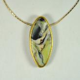 Jan Geisen handmade polymer clay jewelry - pendant necklace N9048