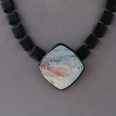 Jan Geisen handmade polymer clay jewelry - pendant necklace N7026